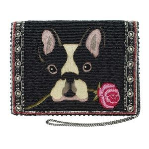 Mary Frances French Bulldog Mini Crossbody Handbag